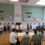鴨居中学校福祉委員との交流